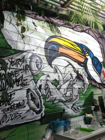 Mural en el bar - Wall at the bar