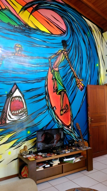 Mural en el salón - Wall on the living room